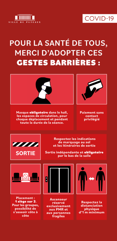 LES GESTES BARRIERES ET LES CONDITIONS D'ACCES AU CENTRAL